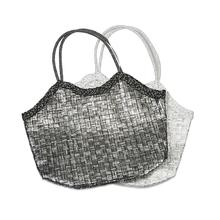 BTQ Monetta Metallic Straw Bag - Ast 2