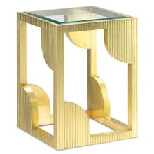 See Details - Morneau Brass Side Table