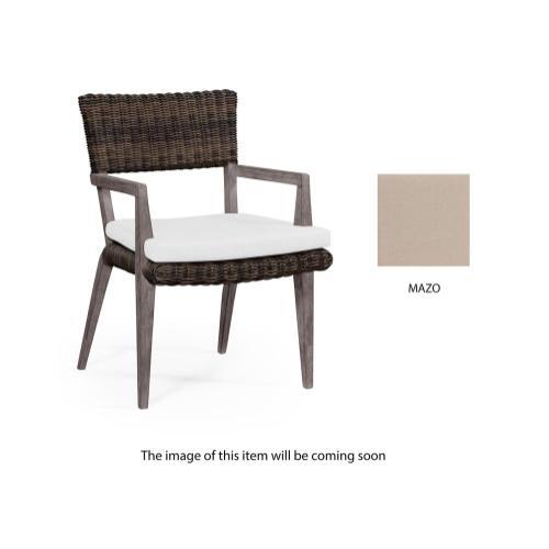 Outdoor armchair upholstered in COM