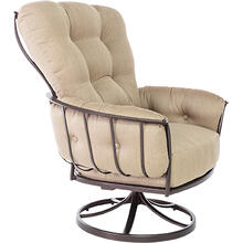 Monterra Swivel Rocker Lounge Chair In Sahara Cafe