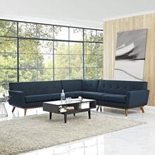 See Details - Engage L-Shaped Sectional Sofa in Azure