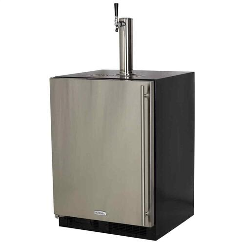 24-In Beverage Dispenser with Door Style - Stainless Steel, Door Swing - Left