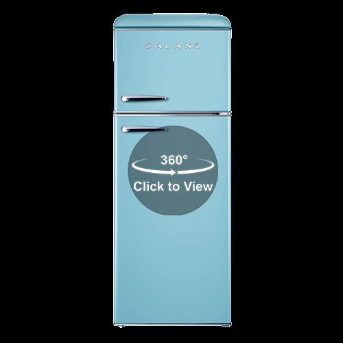 Galanz 7.6 Cu Ft Retro Top Mount Refrigerator in Bebop Blue