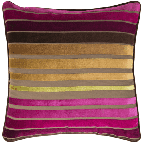 "Velvet Stripe JS-020 22"" x 22"" Pillow Shell Only"