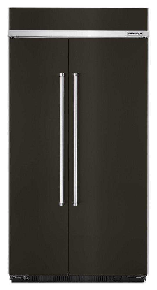 Kitchenaid25.5 Cu. Ft 42-Inch Width Built-In Side By Side Refrigerator With Printshield™ Finish - Black Stainless