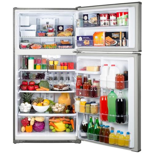 Crosley Top Mount Refrigerator - Stainless-look