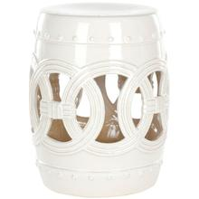 See Details - Antique White Double Coin Ceramic Stool - Antique White