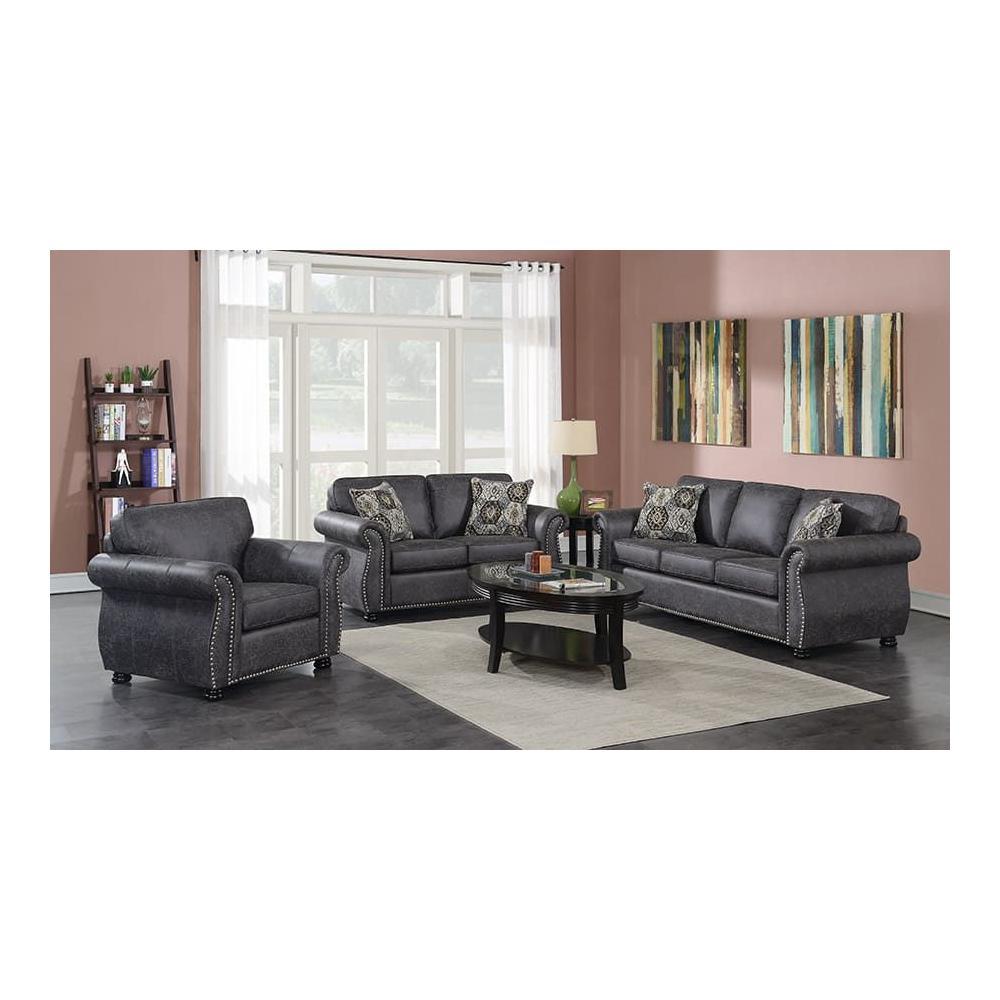 Elk River Gray Sofa, Loveseat, Chair, U9702A