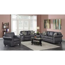 Elk River Gray Sofa, Loveseat, Chair & Ottoman, U9702A