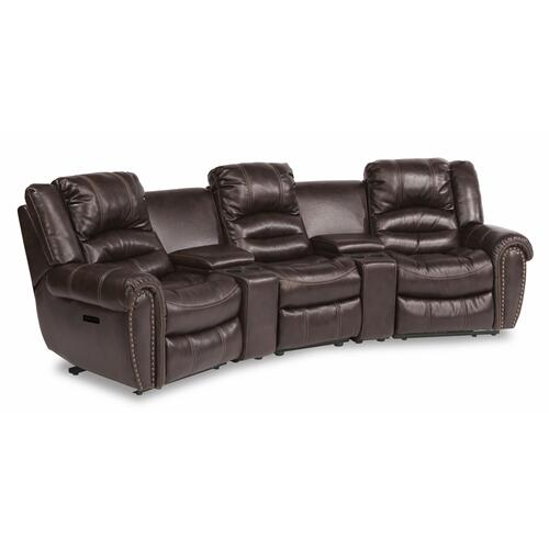Flexsteel - Town Power Reclining Sectional with Power Headrests
