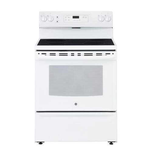 Freestanding Smooth Top Electric Range 30 in Stainless Steel GE - JCBS630DKWW