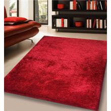 Shaggy Viscose Solid S.V.S. - Red / 5' x 7'