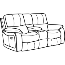Product Image - Woodstock Fabric Power Reclining Loveseat with Console