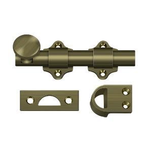 """Deltana - 4"""" Dutch Door Bolt, HD - Antique Brass"""