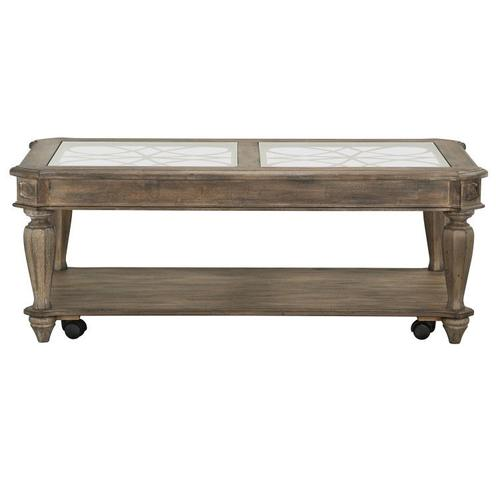 Richmond II Coffee Table with Casters, Brown