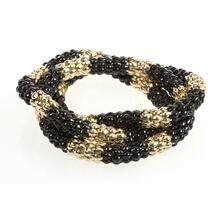 BTQ Black and Gold Beaded Bracelet