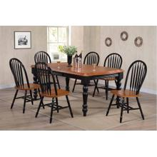 DLU-SLT4272-820-BCH7PC  7 Piece Extendable Dining Set  Arrowback Chairs