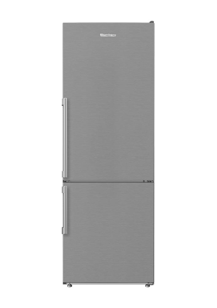 Blomberg Appliances24in 12 Cuft Bottom Freezer Fridge With Full Frost Free, Stainless Steel