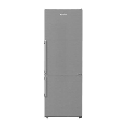 24in 12 cuft bottom freezer fridge with full frost free, stainless steel