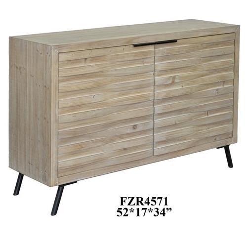 Ayrton 2 Door Natural Finish Ribbed Cabinet