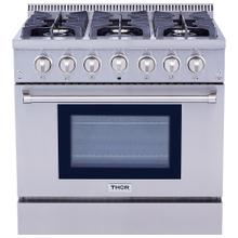 36 Inch Professional Gas Range In Stainless Steel - Liquid Propane
