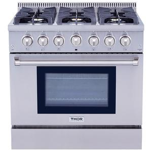 Thor36 Inch Professional Gas Range In Stainless Steel
