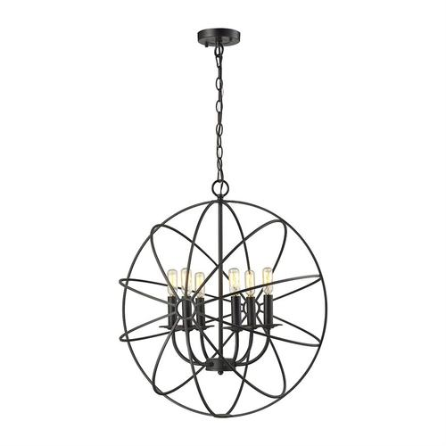 Yardley 6-Light Chandelier in Oil Rubbed Bronze with Wire Cage