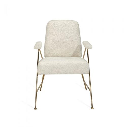 Georgie Lounge Chair - Brass