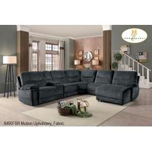 Left Side Chaise with Push Back