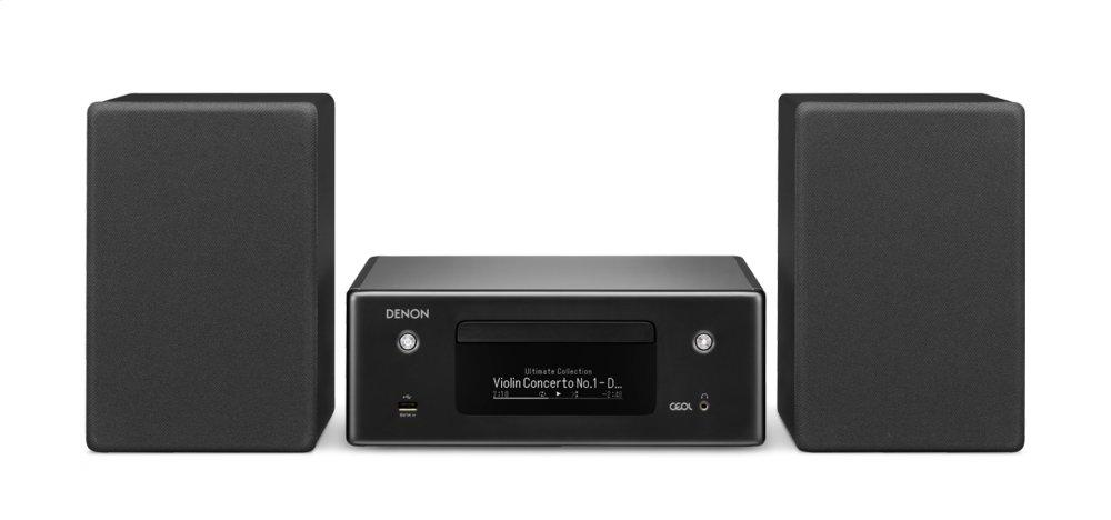 HEOS multiroom HiFi amplifier music streaming Denon CEOL N-10 compact system 2 optical TV inputs Bluetooth and WLAN AirPlay 2 Alexa compatible Internet radio CD player