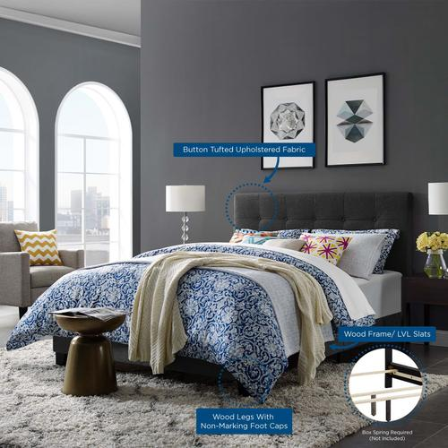 Modway - Amira Full Upholstered Fabric Bed in Gray