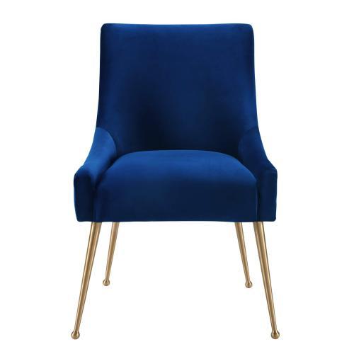 Beatrix Navy Velvet Side Chair