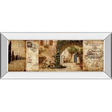"""Tuscan Courtyard"" By Keith Mallet Mirror Framed Print Wall Art"