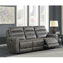 Sintra Charcoal Faux Leather Manual Reclining Sofa