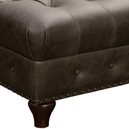 Pulaski Furniture - Charlie Leather Cocktail Ottoman in Heritage Brown