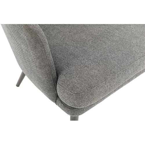 Jenson Accent Chair With Charcoal Fabric and Grey Legs