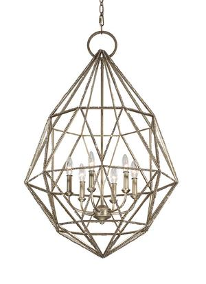 Marquise 6 - Light Chandelier Burnished Silver Product Image