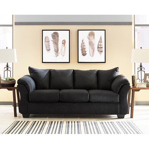 Signature Design by Ashley Darcy Sofa in Black Microfiber [FSD-1109SO-BLK-GG]