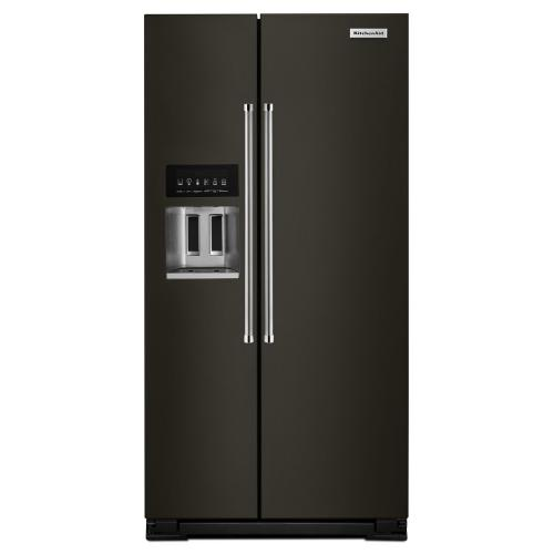 24.8 cu ft. Side-by-Side Refrigerator with Exterior Ice and Water and PrintShield™ finish - Black Stainless Steel with PrintShield™ Finish
