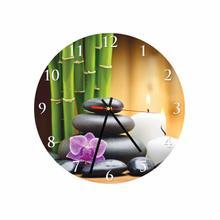 Stones Round Square Acrylic Wall Clock