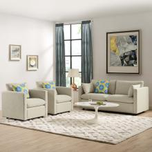Activate 3 Piece Upholstered Fabric Set in Beige