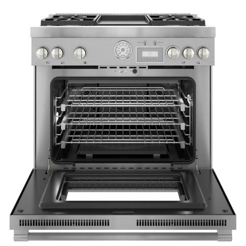 Dual Fuel Professional Range 36'' Pro Grand® Commercial Depth Stainless Steel PRD364WDGU