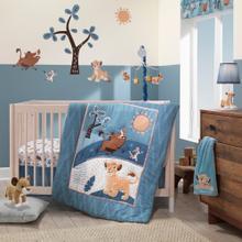 Disney Baby Lion King Adventure Blue 4-Piece Baby Crib Bumper