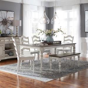 Liberty Furniture Industries - 6 Piece Leg Table Set