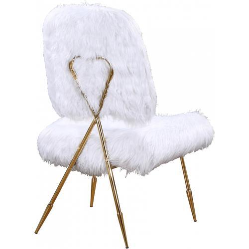 """Magnolia Faux Fur Accent Chair - 26"""" W x 26"""" D x 40"""" H"""