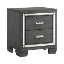 Titanium 2-Drawer Nightstand