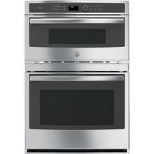 See Details - GE Profile 6.7 Cu. Ft. Built-In Combination Convection Microwave/Convection Wall Oven Stainless Steel - PT7800SHSS