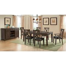 Copper Ridge  - Dining Table and 6 chairs