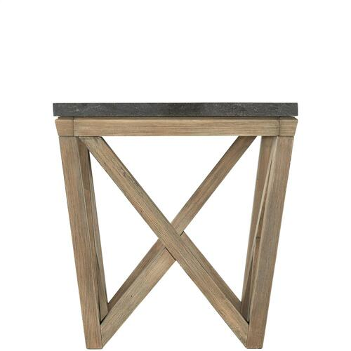 Hawkins - Square Side Table - Antique Oak/bluestone Finish
