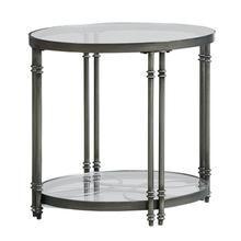 Terrazza Metal End Table, Burnished Metal